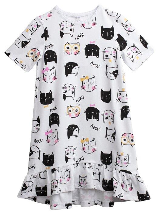 Сорочка playToday размер 122, белый