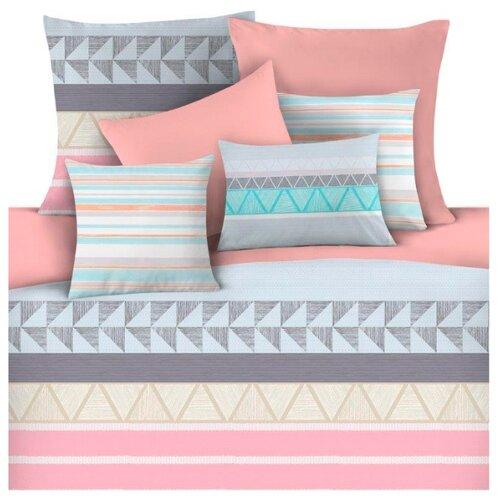 цена Постельное белье 1.5-спальное Mona Liza Sher 50 х 70 см сатин голубой / розовый онлайн в 2017 году