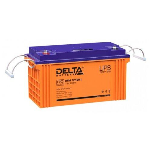 Аккумуляторная батарея DELTA Battery DTM 12120 L 120 А·ч аккумуляторная батарея delta battery dtm 1275 l 75 а·ч