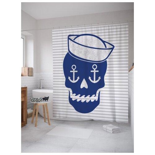Штора для ванной JoyArty Череп моряка 180х200 (sc-5073) разноцветный