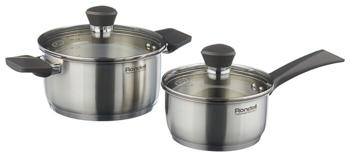 Набор посуды Rondell Strike RDS-819 4 пр. стальной