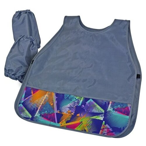 Купить BG фартук-накидка с нарукавниками MultiColor (ФНТ_пэ 4444) голубой, Одежда для уроков труда