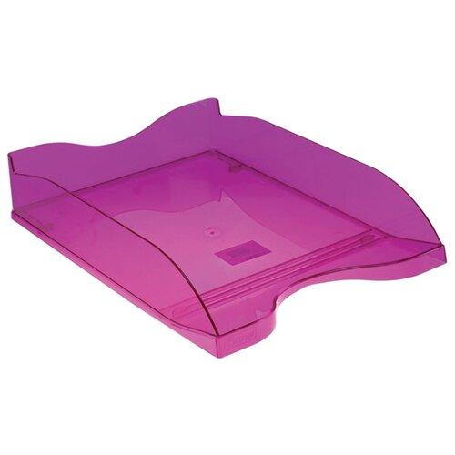 Купить Лоток горизонтальный для бумаги СТАММ Люкс тонированный фиолетовый слива, Лотки для бумаги