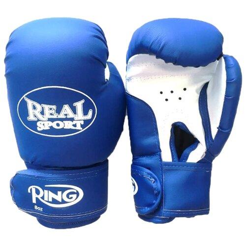 Боксерские перчатки Realsport ES-06 синий 8 oz