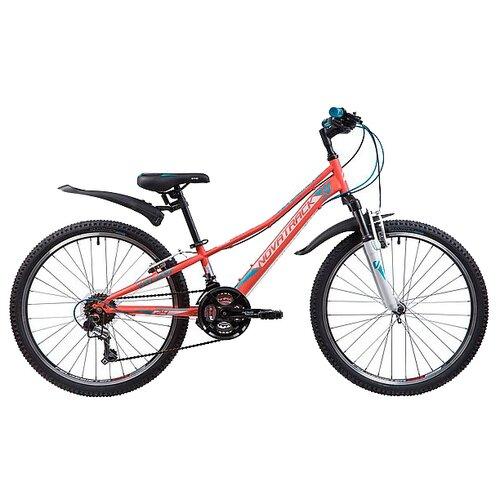 Подростковый горный (MTB) велосипед Novatrack Valiant 24 (2019) коралловый 10 (требует финальной сборки) велосипед novatrack valiant черный 20