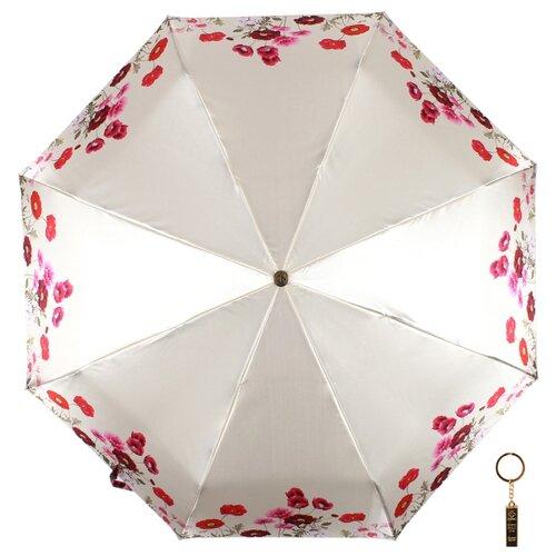 Зонт автомат FLIORAJ Premium Волшебные цветы бежевый