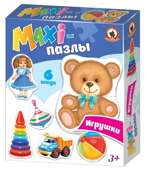 Набор пазлов Русский стиль Maxi Игрушки (02551)
