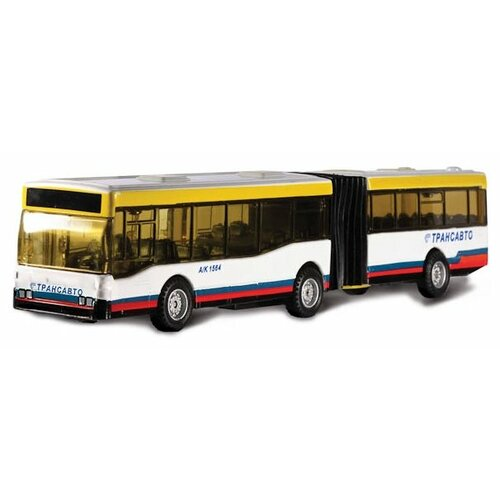 Купить Автобус ТЕХНОПАРК с гармошкой Трансавто (CT-1055-372) 18 см белый, Машинки и техника