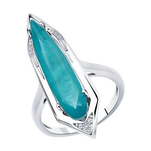 Diamant Кольцо из серебра 94-110-00520-2, размер 19 фото