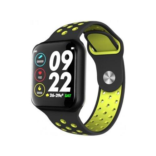 Умные часы BandRate Smart SHF88 черный/желтый  - купить со скидкой