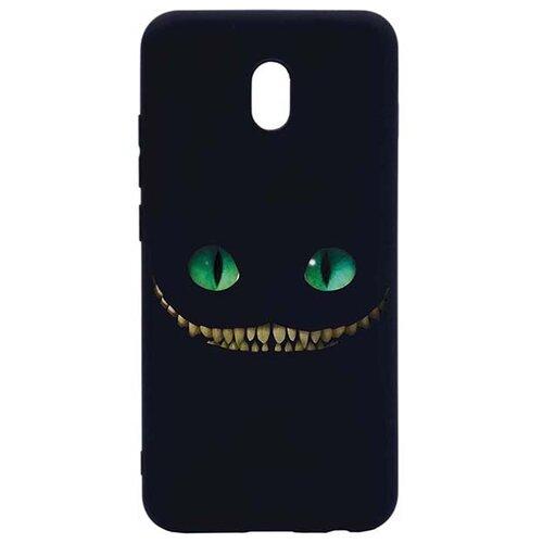 Фото - Ультратонкая защитная накладка для Xiaomi Redmi 8A с принтом Улыбка Чеширского Кота ультратонкая защитная накладка soft touch для samsung galaxy a32 с принтом улыбка чеширского кота черная