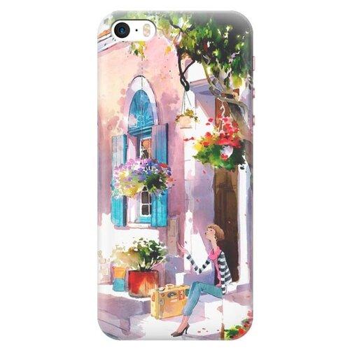 Чехол Gosso 648580 для Apple iPhone 5/iPhone 5S/iPhone SE девочка на цветущей улочкеЧехлы<br>