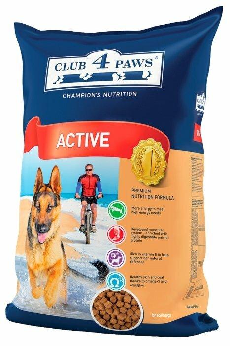 Корм для собак Клуб 4 Лапы Для активных собак (12 кг)