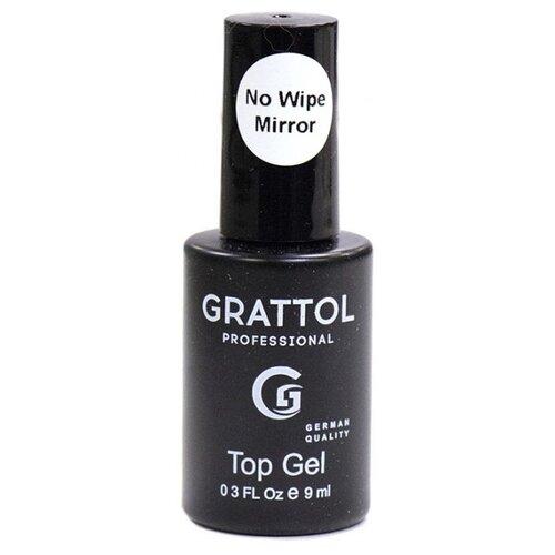 Grattol верхнее покрытие No Wipe Top Gel 9 мл прозрачный
