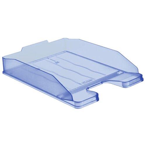 Купить Лоток горизонтальный для бумаги СТАММ Эксперт тонированный голубой, Лотки для бумаги