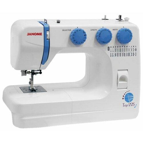 Швейная машина Janome Top 22S, бело-голубой