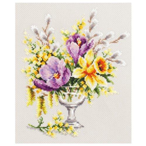 Купить Чудесная Игла Набор для вышивания Весенний букетик 20 x 23 см (100-002), Наборы для вышивания
