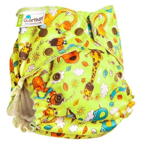Купить GlorYes! подгузники бамбуковые для приучения к горшку NEW (3-18 кг) 1 шт. жирафы, Подгузники