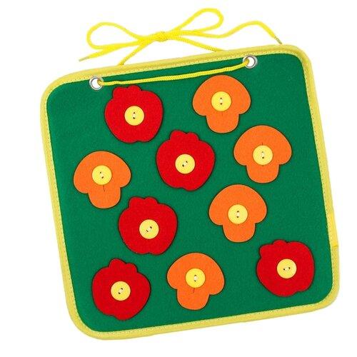 Фото - Бизиборд Школа талантов Грибы и яблоки зеленый/оранжевый/красный деревянные игрушки школа талантов развивающая бизиборд приключения в космосе