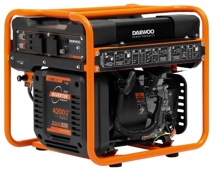 Бензиновый генератор Daewoo Power Products GDA 5600i (4000 Вт)