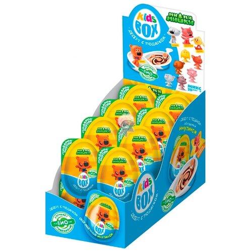 Шоколадное яйцо Конфитрейд KidsBox МИ-МИ-МИШКИ десерт с подарком, коробка (16 шт.) конфитрейд автодром мотоцикл фруктовое драже с игрушкой 5 г