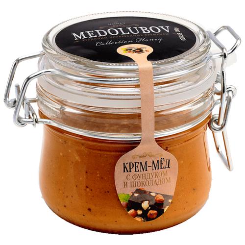Крем-мед Medolubov с фундуком и шоколадом (бугель) 250 мл