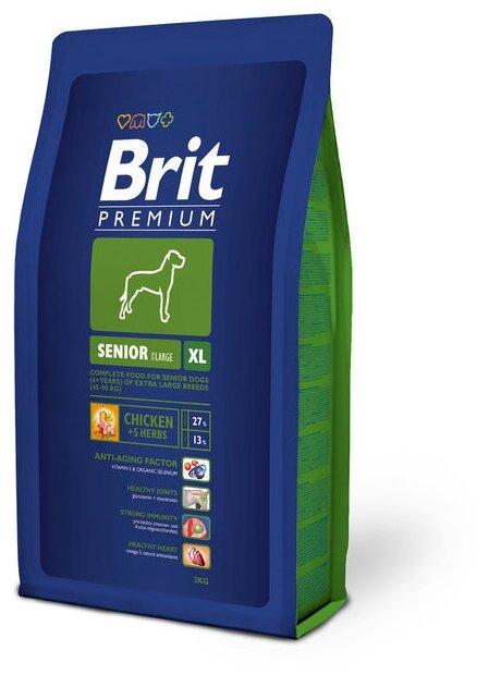 Корм для пожилых собак Brit Premium курица (для крупных пород)