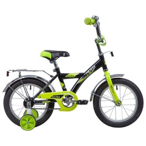 Детский велосипед Novatrack Astra 14 (2019) черный (требует финальной сборки)