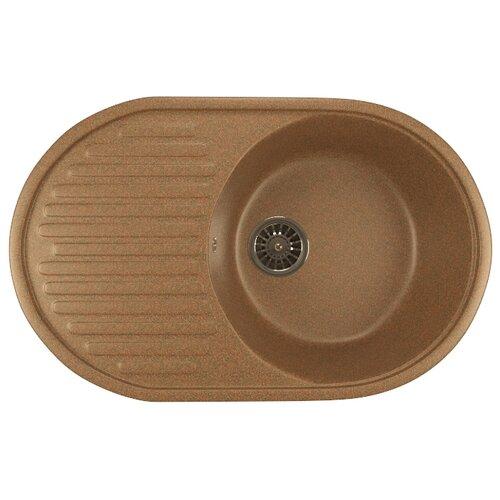 Врезная кухонная мойка 72 см Mixline ML-GM16 525113 терракотовая 307Кухонные мойки<br>