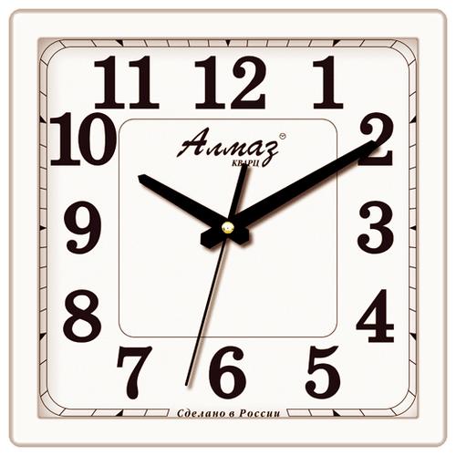 Часы настенные кварцевые Алмаз K02 белый