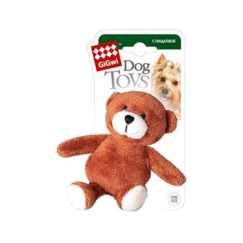 Игрушка для собак GiGwi Dog Toys Мишка (75022А) коричневый