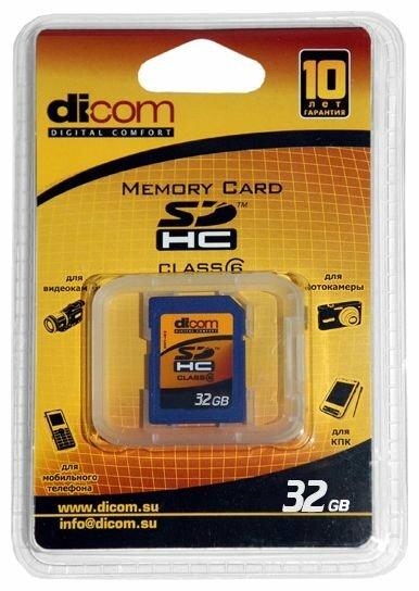 Карта памяти Dicom SDHC Class 6