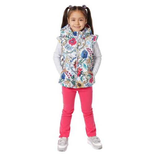 Жилет V-Baby 56-035 размер 134, мультицветКуртки и пуховики<br>