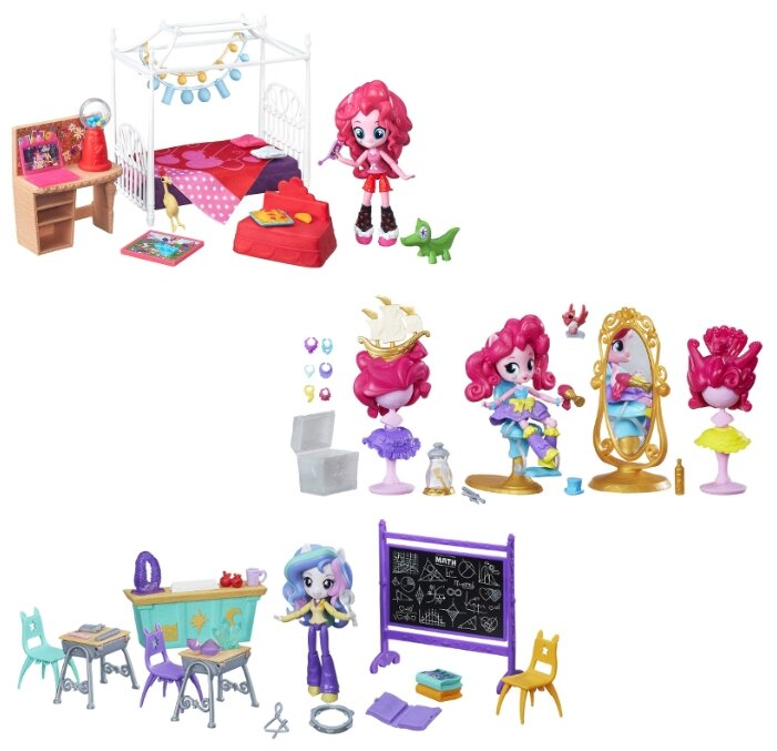 Набор с мини-куклой My Little Pony Equestria Girls Пижамная вечеринка, 12см, B8824
