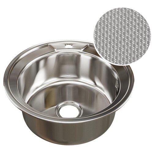 Врезная кухонная мойка 51 см Mixline d51 (0.8) 3 1/2 нержавеющая сталь/декор врезная кухонная мойка 51 см mixline d51 0 6 3 1 2 нержавеющая сталь глянец