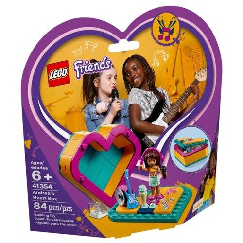 Конструктор LEGO Friends 41354 Шкатулка-сердечко Андреа конструктор friends lego lego mp002xg00jt9