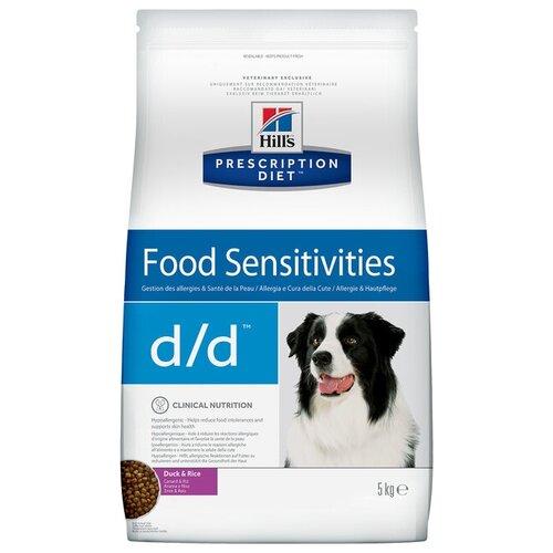 Корм для собак Hills (5 кг) Prescription Diet D/D Canine Skin Support Duck & Rice dryКорма для собак<br>