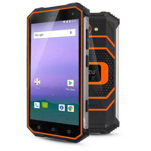 Смартфон Ginzzu RS8502 black/orange смартфон