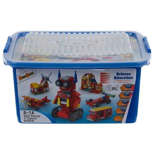 Электронный конструктор BanBao Science Education 6926 Stem 6 в 1, Конструкторы  - купить со скидкой