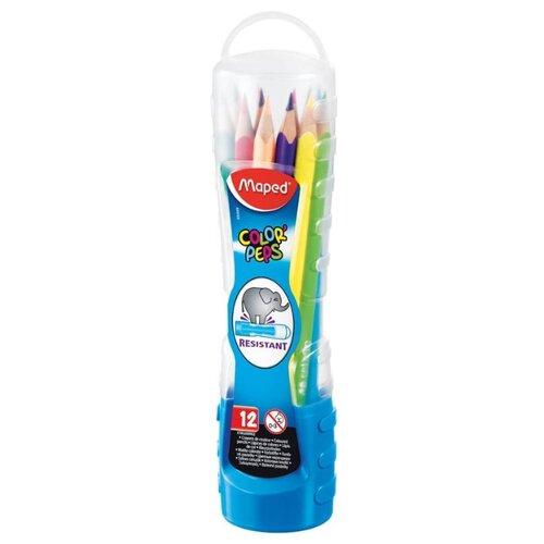 Купить Maped Цветные карандаши Color Peps 12 цветов, пенал-стаканчик (832009)