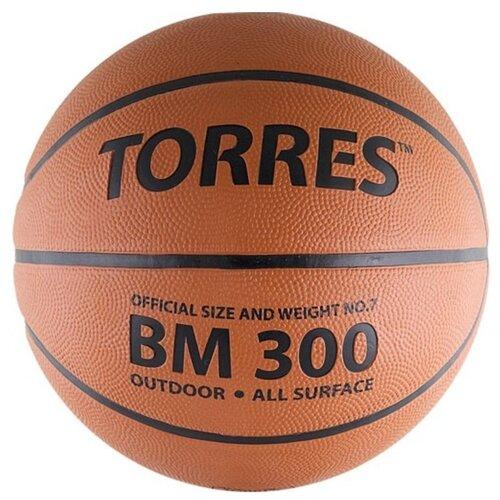 Баскетбольный мяч TORRES B00017, р. 7 темно-оранжевый/черный