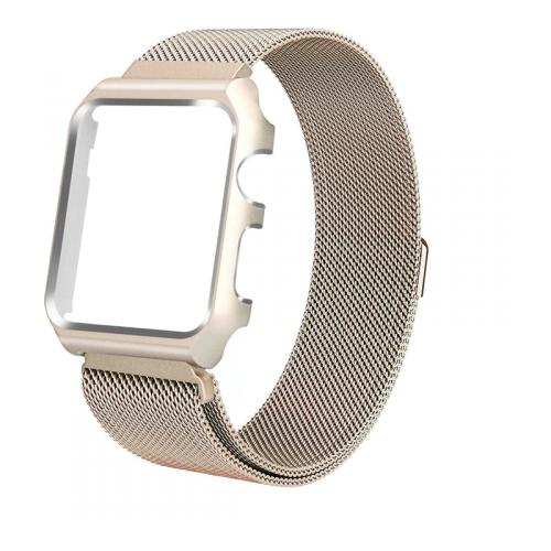 Купить CARCAM Ремешок для Apple Watch 44mm One Body Milanese Loop Металл золотой