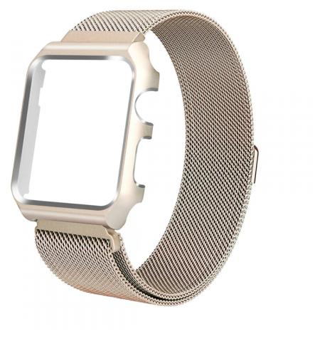 Ремешок для Apple watch 44mm One Body Milanese Loop Металл красный
