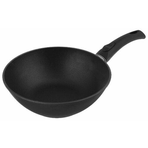 Сковорода-вок НЕВА МЕТАЛЛ ПОСУДА Титан 3126W 26 см, съемная ручка