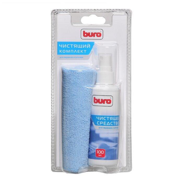 Buro BU-S/MF комплект для очистки экранов и оптики, микрофибра + спрей