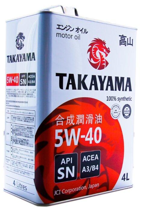 "Масло моторное TAKAYAMA ""SAE 5W-40"", цвет: коричневый, 4 л"