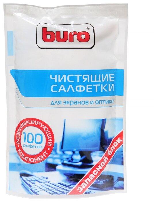 Запасной блок Buro BU-Zscreen к тубе с чистящими салфетками для экранов и оптики, 100шт.