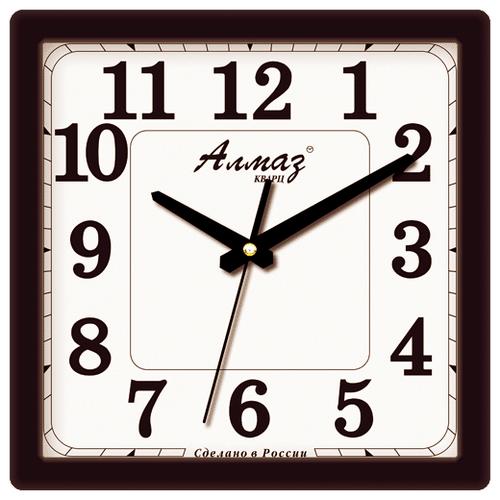 Часы настенные кварцевые Алмаз K01 черный/белый часы настенные кварцевые алмаз h01 белый черный