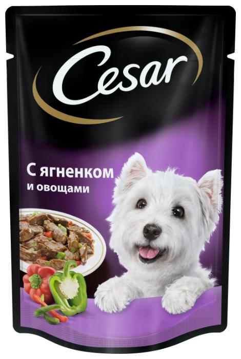Корм для собак Cesar С ягненком и овощами