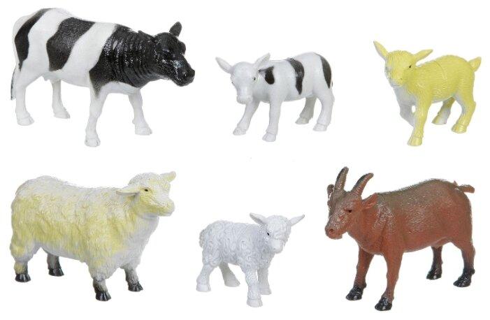 Фигурки BONDIBON Ребятам о зверятах - Домашние животные с детенышами ВВ1606
